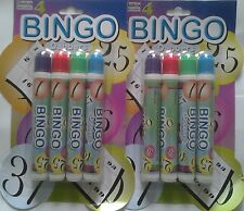 8 x Bingo Dabber Markers Multi-Coloured Pens For Bingo Tickets Great Value