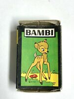 VINTAGE 1940s BAMBI & FRIENDS WDP Disney 48 CARDS GAME COMPLETE INSTRUCTIONS