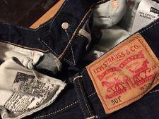 Vintage Levis 501 Small e Redline Selvedge Dark Indigo Denim Jeans. 35 x 30