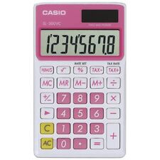 CASIO SL300VCPKSIH Solar Wallet Calculator with 8-Digit Display (Pink)