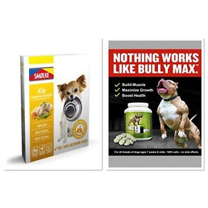 Bully Max Muscle Builder! Appetite Stimulant! +Steamed meat! Duck! Fish! Chickn!