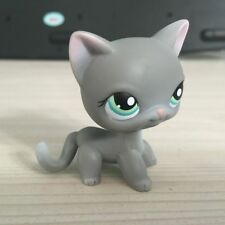 LITTLEST PET SHOP GREY CAT GREEN EYES LPS #126 Action Figures