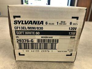 Sylvania CF13EL/MINI/830 Compact Fluorescent Lamps 6-PACK