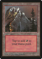 Mountain (Vers.1) - BETA Edition  - Old School - MTG Magic The Gathering