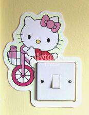 ROSA Hello Kitty bici luce interruttore Coprire Adesivo Glow in Dark Ragazze Room Decor