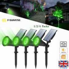 T-SUN 1/2/4 pack LED Solar Spotlight Waterproof Outdoor Security Garden Lamp UK