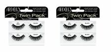 2 Packs of Ardell Twin Pack Eyelashes 101 Demi Black, Total 4 Pairs NEW