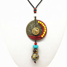 Fashion Ceramics Beads Pendant Ethnic Long Necklace Chain Jewelry Style  XL07