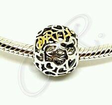 """Damen Charm """"DREAM"""" Micky Mouse, Herzen, 925er Silber mit Gold, kombinierbar mit"""