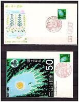 s10960) JAPAN JAPON 1977, Forest campaign 1v FDC + ,MAXICARD