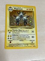Magneton Holo Pokemon Card Base Set Unlimited English 9//102