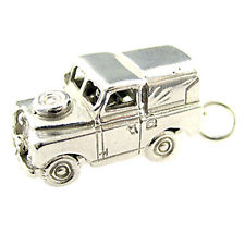 Sterling 925 British Silver Large Charm Or Pendant / Fob. Landrover Car