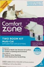 Comfort Zone Two Room Kit MultiCat 2 Diffuser and Refill for Cats & Kittens