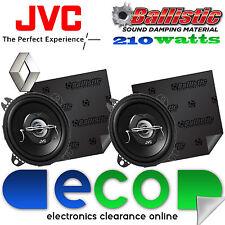 RENAULT TWINGO 98-00 JVC 10 cm 210 Watts 2 voie haut-parleurs de voiture & Sound Deadening