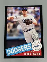 Corey Seager 2020 Topps Series 2 Black /299 1985 35th Anniversary Throwback #22