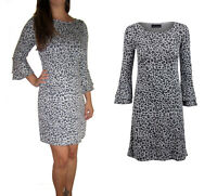 Ladies Jumper Animal Print Knit Day Casual Dress Size UK 8 10 12 14 16 18 20 22