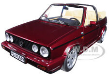 1992 VOLKSWAGEN GOLF CABRIOLET CLASSIC LINE RED METALLIC 1/18 BY NOREV 188403