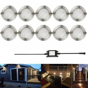 10X47mm 12V LED Decking Plinth Lights Garden Deck Kitchen Lighting outdoor KIT