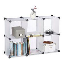 Relaxdays Étagère Rangement 6 casiers Plastique modulable DIY assemblage Plug