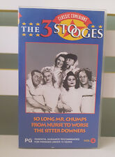 The Three Stooges Volume 4 So Long Mr Chumps Vhs Video 1941 Version Black White