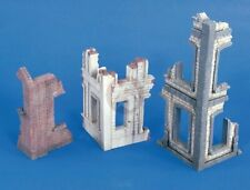 Verlinden 1/35 Ruined Building Corner Sections WWII (3 different types) 2436
