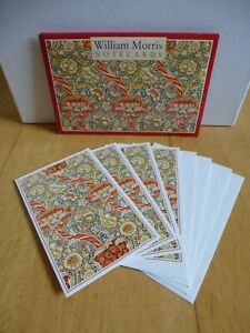 Pack of 4 William Morris Floral Patterned Notecards & Envelopes ~ All Occasions