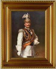Kaiser Wilhelm II Garde du Cops Uniform, fertig eingerahmt in Luxusrahmen