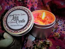 Aphrodite Love Candle Tin  Wiccan Candle with Rose, Violet & Quartz Witch