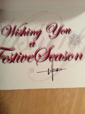 SIGNED Syd Mead - 2009 Christmas Castle Card + Pic