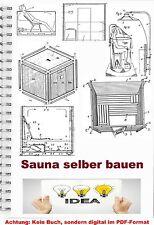 Sauna Sauna costruire tecnica di oltre 690 piani costruttivi sweatbath brevetto raccolta PDF