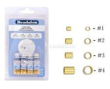 Beadalon GOLD Crimp Tubes Variety Pack, Size 1, 2, 3, 4, (600 PCS)