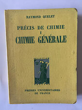 PRECIS CHIMIE ORGANIQUE VOL 1 1960 QUELET ILLUSTRE
