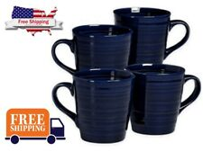 Over and Back Centric Coffee Mugs in Blue (Set of 4)