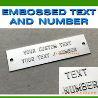 DATA PLATE ID TAG EMBOSSED SERIAL VIN NUMBER HIN TRAILER BOAT CHEVY GMC FORD