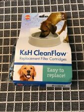 K&H CleanFlow Replacement Filter Cartridges Large 3-Pack. NEW!