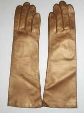 Fownes Long Genuine Leather Gloves, Bronze, M/L