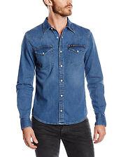 Lee Western Denim Shirt New Men's Blue Stance Jean Shirts Slim Fit