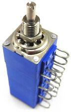 "Bourns Plastic Conductive 4-gang 10K Audio Taper Pot 1/4"" Bushing 1/8"" Shaft. PD"