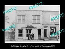 OLD LARGE HISTORIC PHOTO OF DAHLONEGA GEORGIA BANK OF DAHLONEGA BUILING c1930