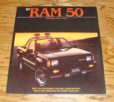 Original 1987 Dodge Ram 50 Pickup Truck Deluxe Sales Brochure 87