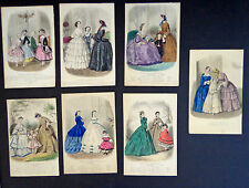7 Antique Plates from Magasin des Demoiselles (1851-63) INV 2016