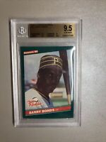 Barry Bonds BGS 9.5 Gem Mint 1986 Donruss Rookie Card The Rookies RC Comp PSA 10