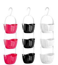 3 Tier Plastic Basket Shower Caddy Bath Shower Shampoo Holder Rack Tidy Shelf