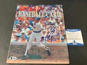Mark Grace Cubs Autographed Signed Beckett Baseball Monthly March 89 Beckett COA