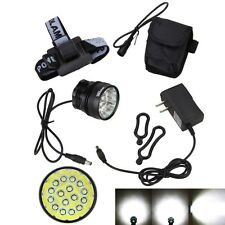 Powerful 60000Lm 16x XM-L T6 LED 3 Modes Cycling Bicycle Bike Light Headlight