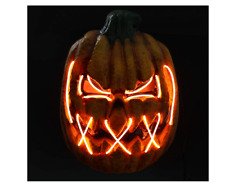 Mask Light Led Pumpkin Halloween Cosplay Costume Wire Party Scary Glow Horror