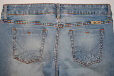 Just USA Blue Light Denim Jeans Skinny Leg Distressed Sz 9 Cut Out legs Knees