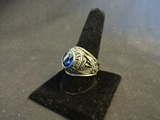 Collectible United States Army Silver Tone Blue Gem Ring Jewelry Size 12 3/4
