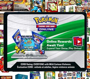 BONUS / PROMO / BOX / TIN Pokemon Online CODE CARDS ~ RAPID TCG Email Codes TCGO