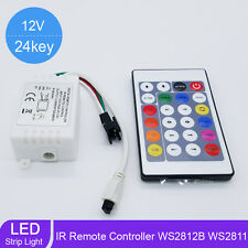 24 Key LED RGB IR 1000 Pixels Remote Controller For WS2812B WS2811 Strip Light M